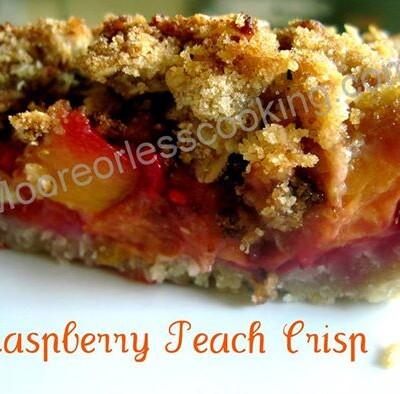 * Peach Raspberry Crisp Pie- Pie Contest Winner! *