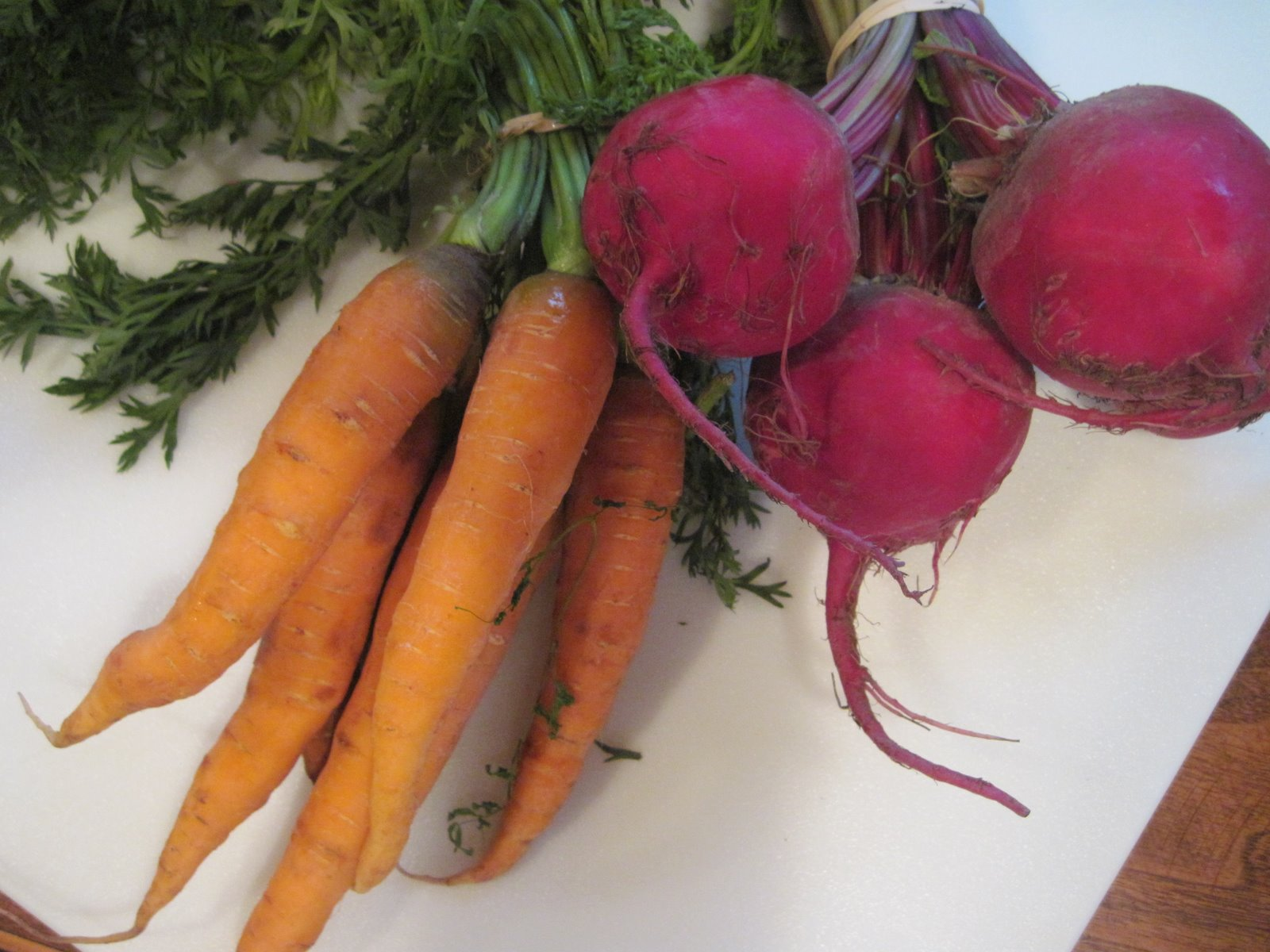 Baked Beets and Carrots