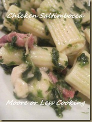 Chicken Saltimbocca with Pasta