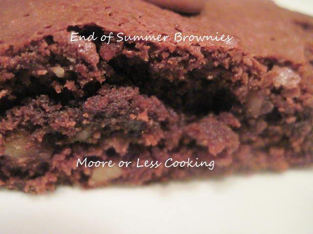 { End Of Summer } Brownies
