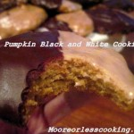 PUMPKIN BLACK AND WHITE COOKIE < Sunday's With Joy >