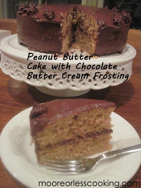 Peanut Butter Cake with Chocolate Butter Cream Frosting < Sunday's With Joy>