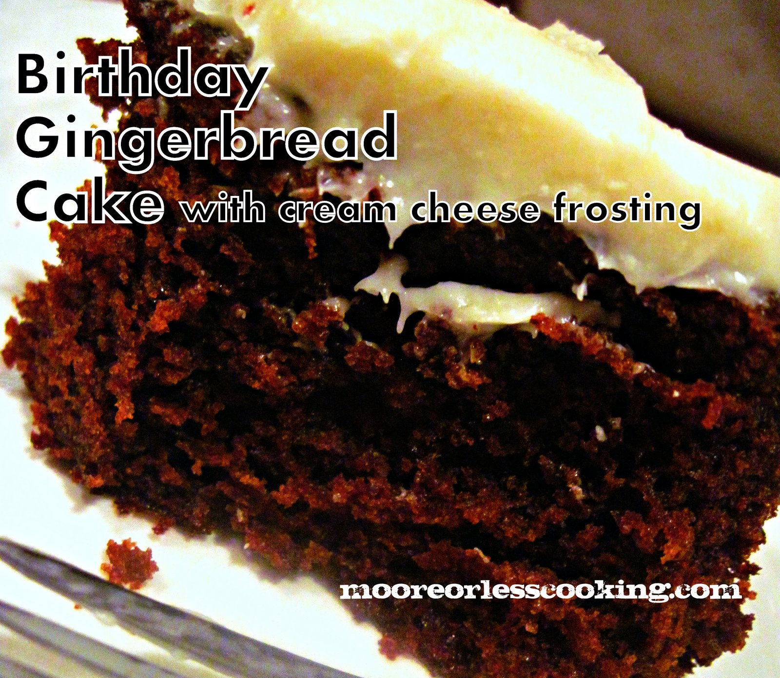 ~Sundays With Joy~ Birthday Gingerbread Cake with Cream Cheese Frosting