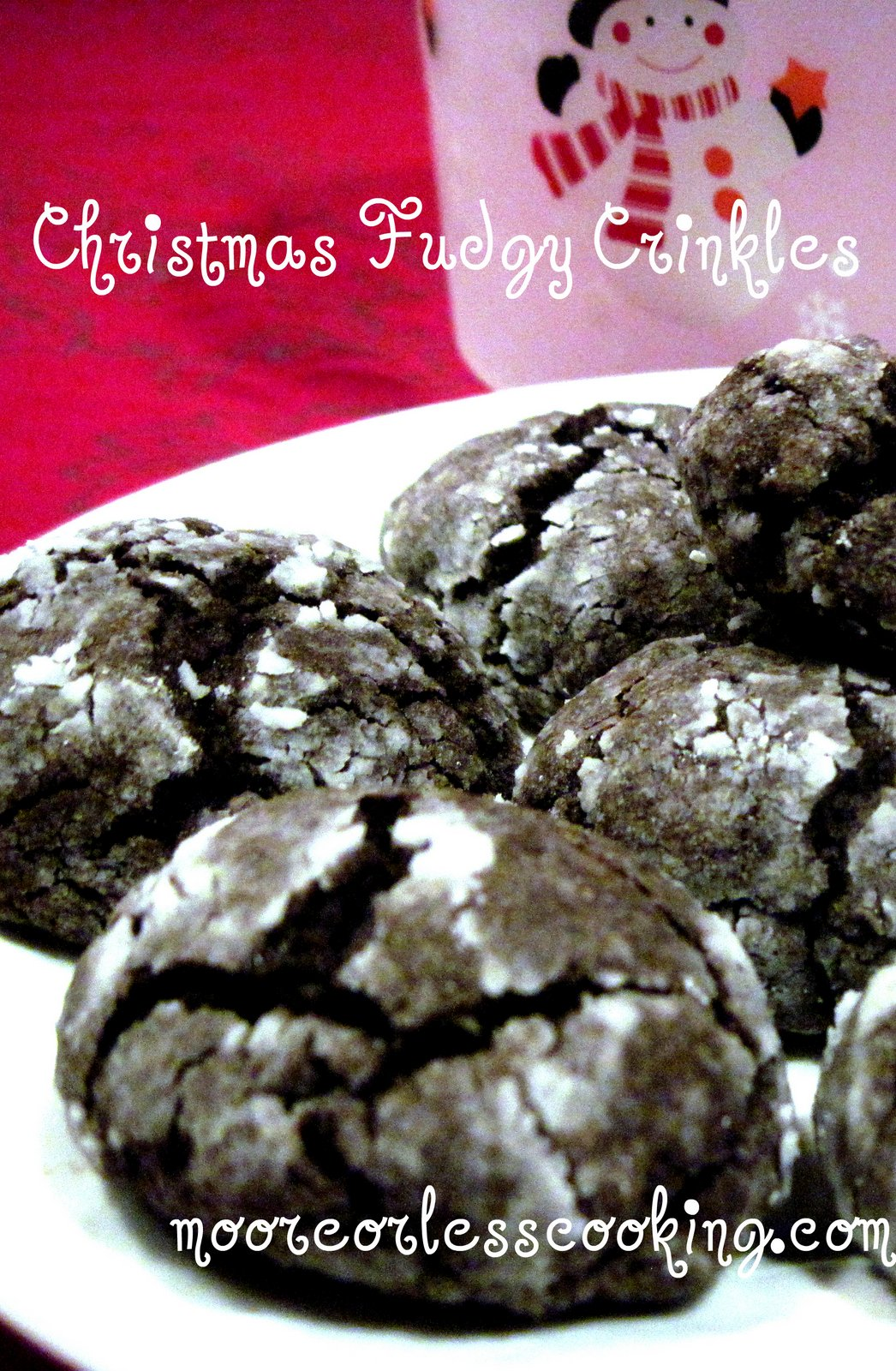 Christmas Fudgy Crinkles