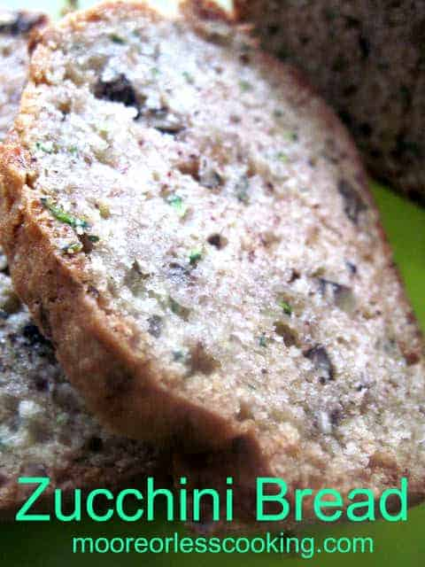 This is as close as I can get to summer with this perfectly moist, delicious Zucchini Bread. Makes two loaves. via @Mooreorlesscook