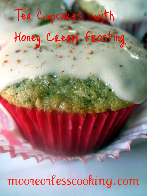 Tea Cupcakes with Honey Cream Frosting { Sunday's with Joy }