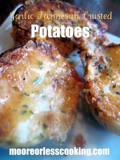 Garlic Parmesan Crusted Potatoes