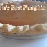 Mom's Best Pumpkin Pie