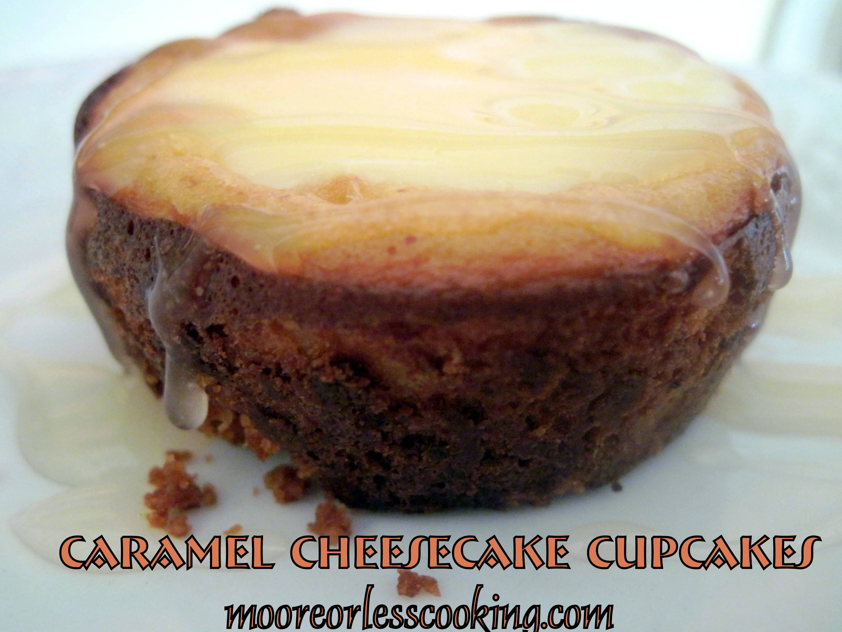 Caramel Cheesecake Cupcakes and a Cookbook GIVEAWAY!!