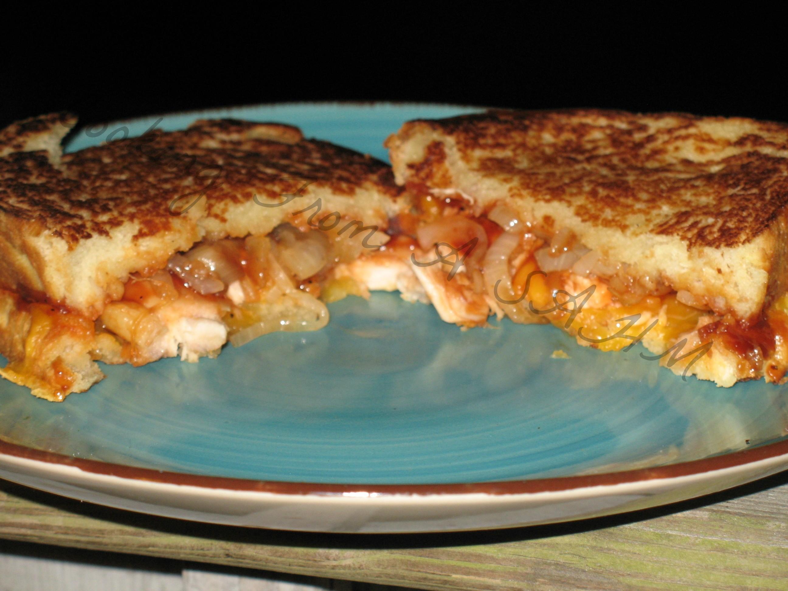 BBQ Chicken Cheddar Grilled Sandwiches- Guest Post