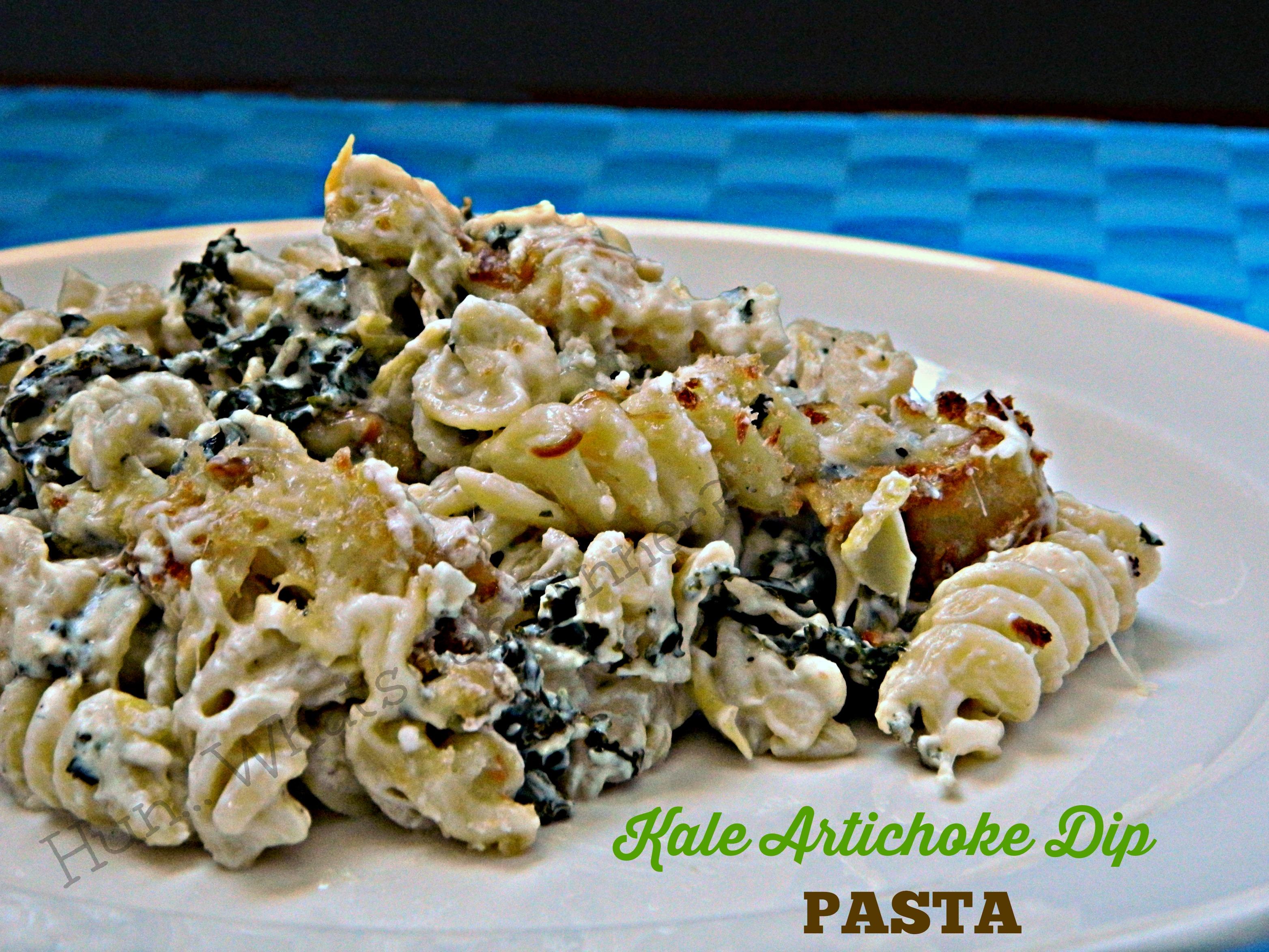 Kale Artichoke Dip Pasta- Guest Post