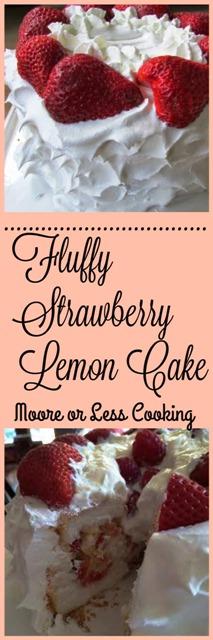 Fluffy Strawberry Lemon Cake