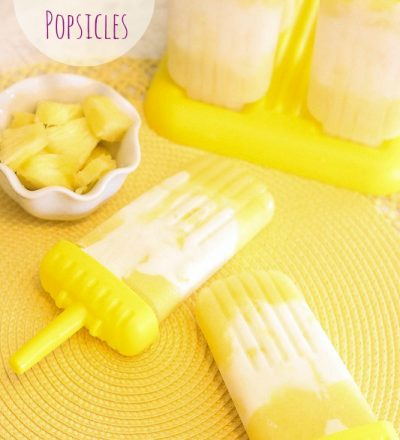 Guest Post from Lauren Kelly Nutrition~ Pina Colada Popsicles