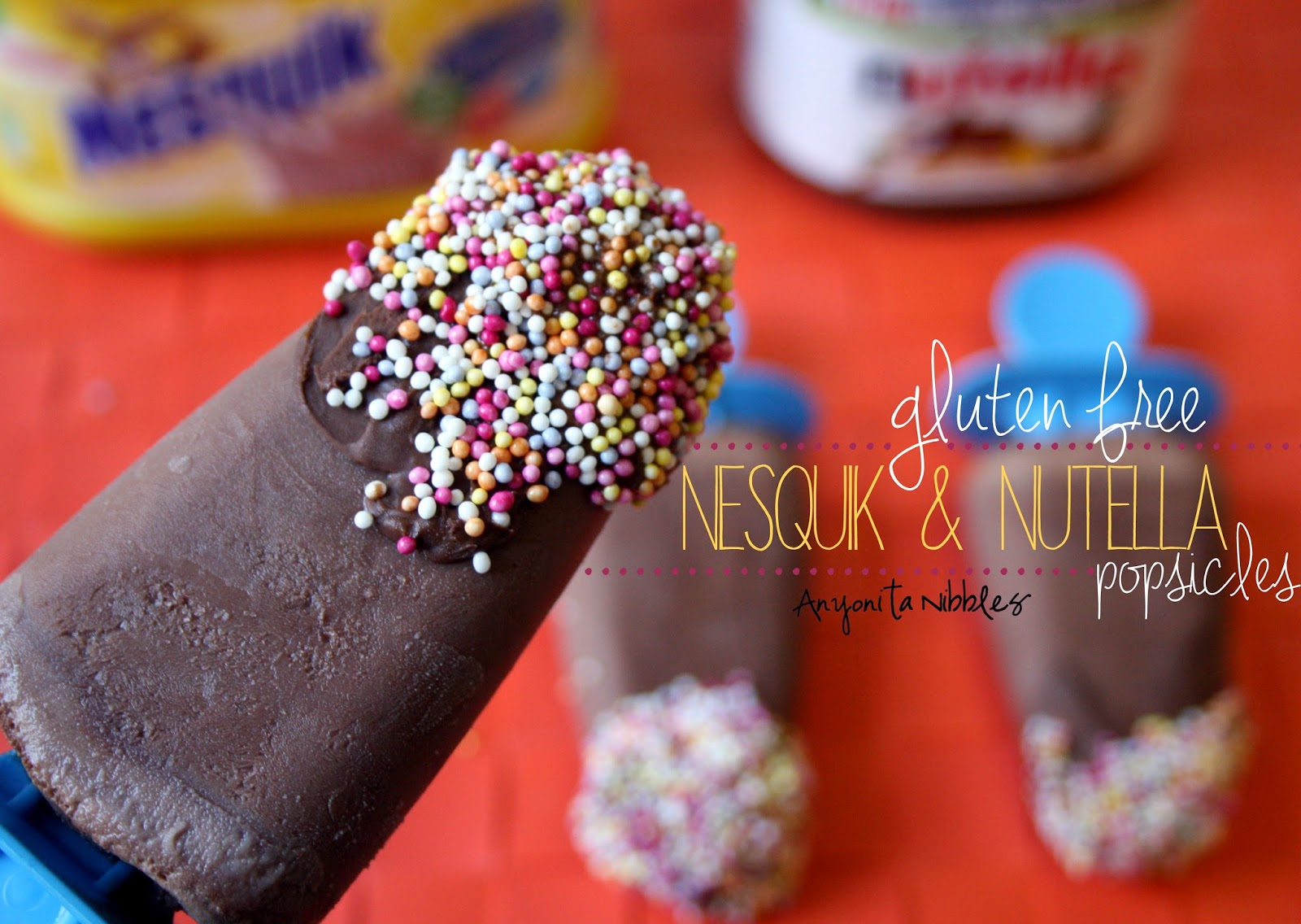 Gluten Free Nesquik & Nutella Popsicles from Anyonita Nibbles