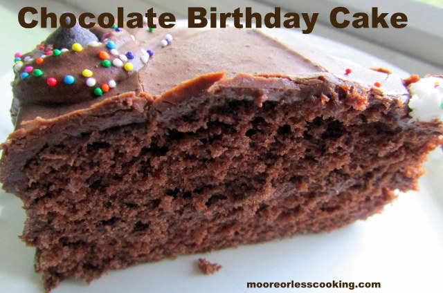 Print CHOCOLATE BIRTHDAY CAKE