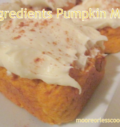 2 Ingredients Pumpkin Muffins