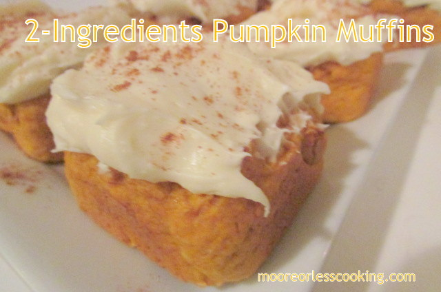 2 Ingredients Pumpkin Muffins!