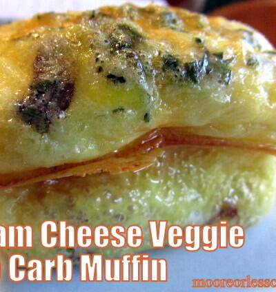 HAM CHEESE VEGGIE LO CARB MUFFIN