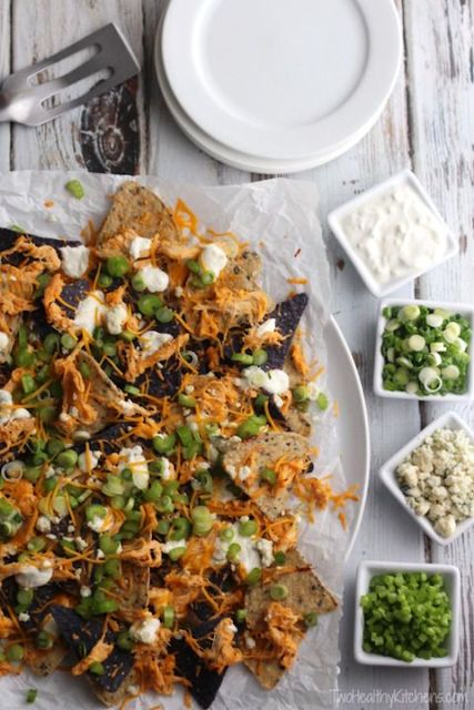 Baked Buffalo Chicken Nachos