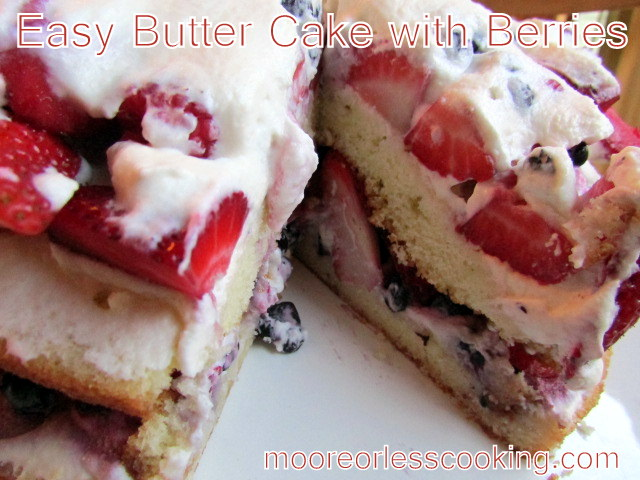 Easy Butter Cake with Nerries