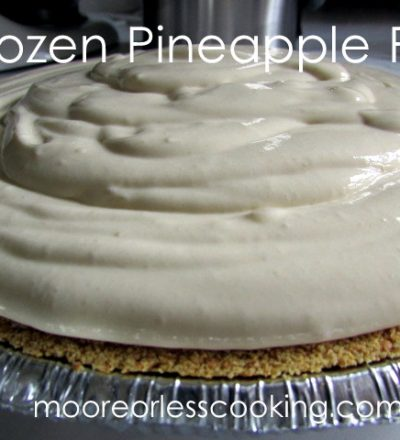Frozen Pineapple Pie ( No Bake)