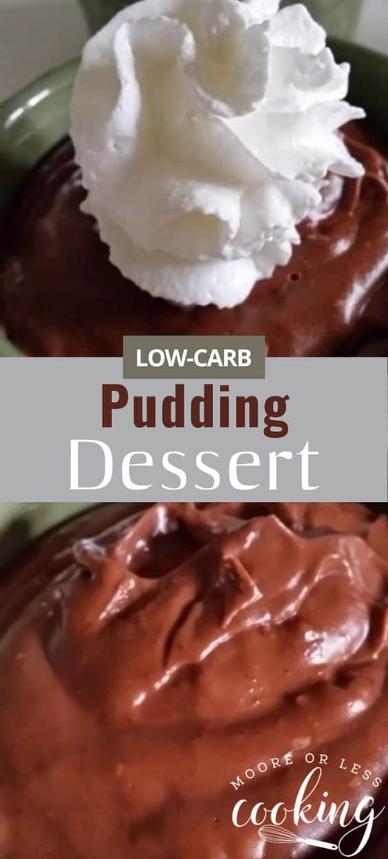When you have that chocolate hankering and want to stick to your Low Carb diet~ Look no further! Creamy, chocolatey heavenly pudding dessert for keto low carb diet. via @Mooreorlesscook