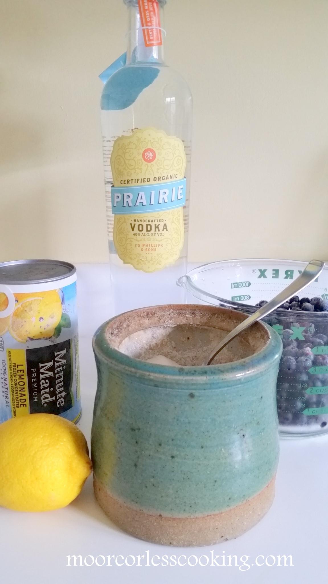 Boozy Frozen Blueberry Lemonade