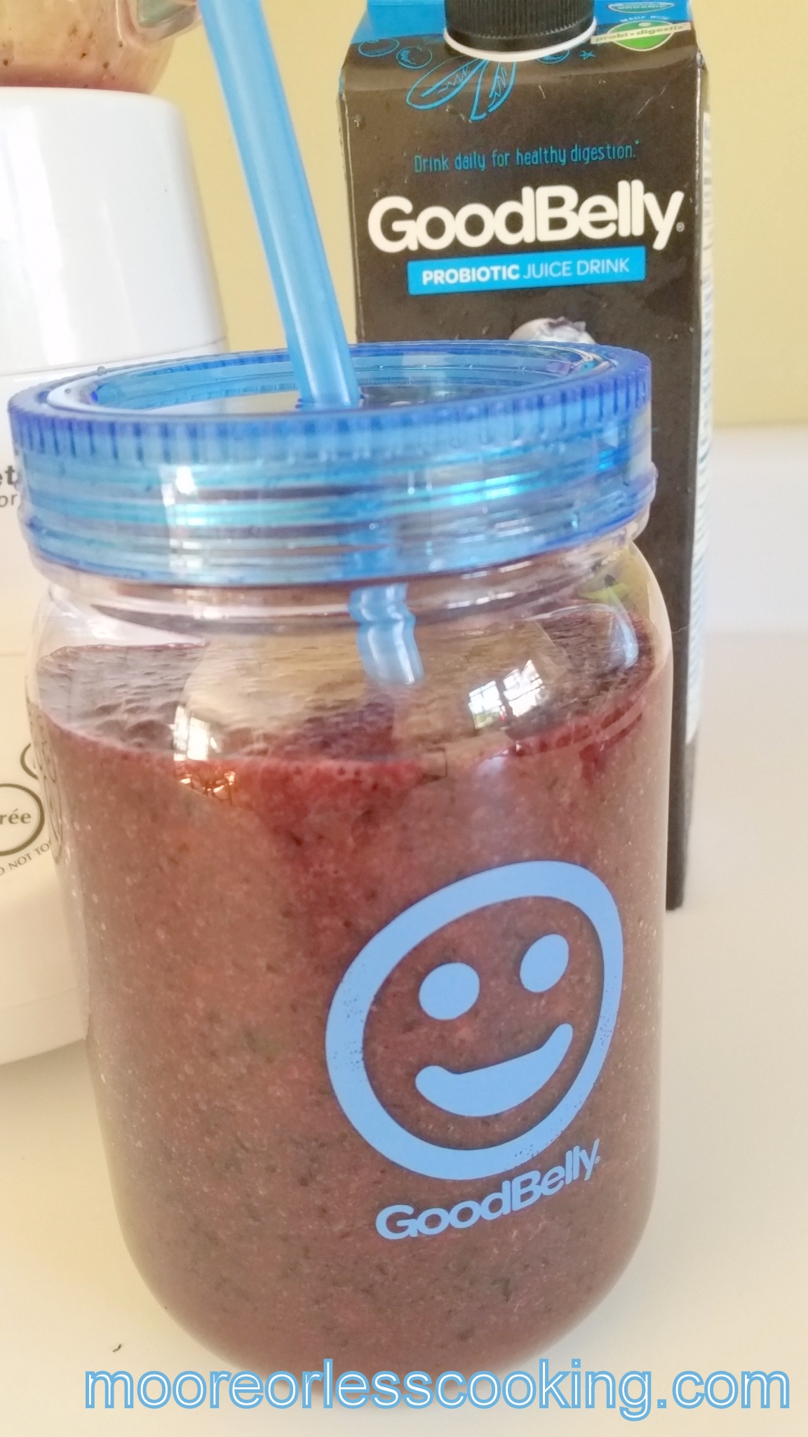 Blueberry Peach Smoothie and Giveaway!