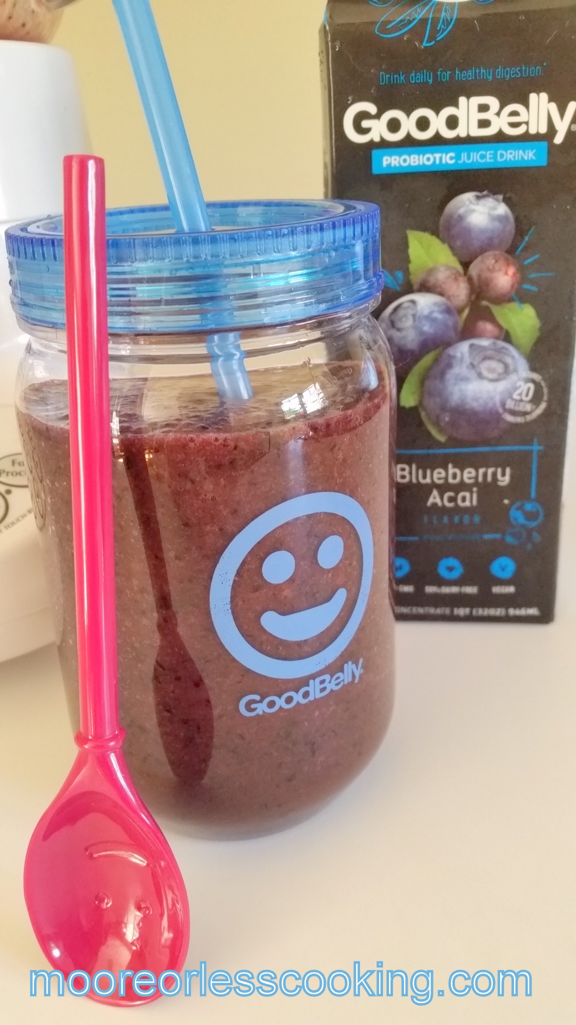 Blueberry Peach Smoothie and Giveaway