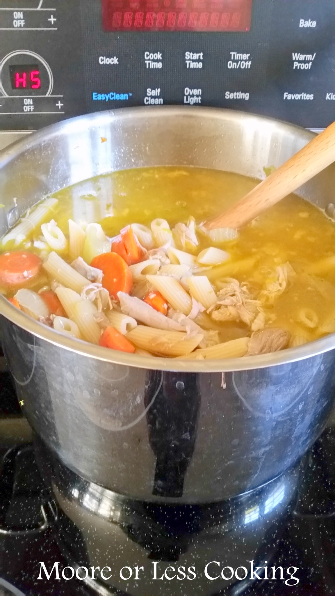 Easy Chicken Noodle Soup in Pot