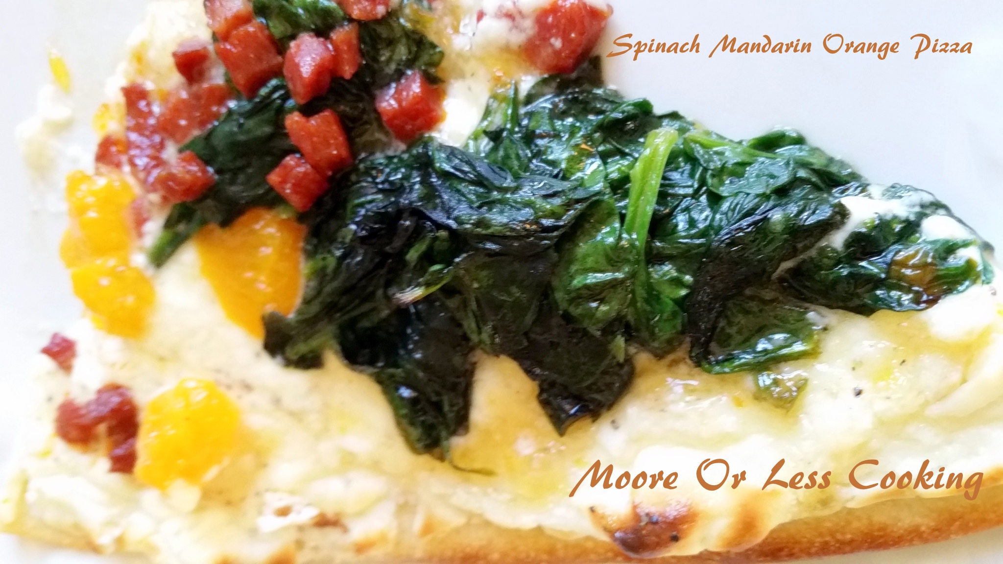 Spinach Mandarin Orange Pizza