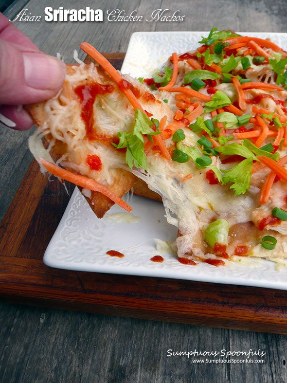 Asian Sriracha Chicken Nachos