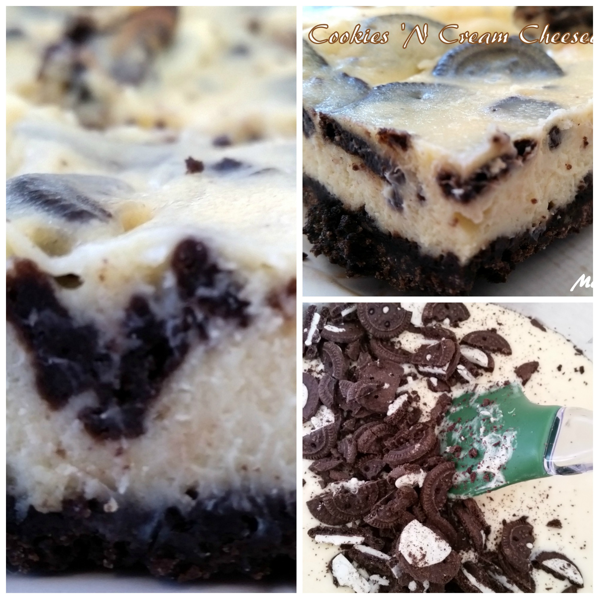 Cookies N Cream Cheesecake Bars