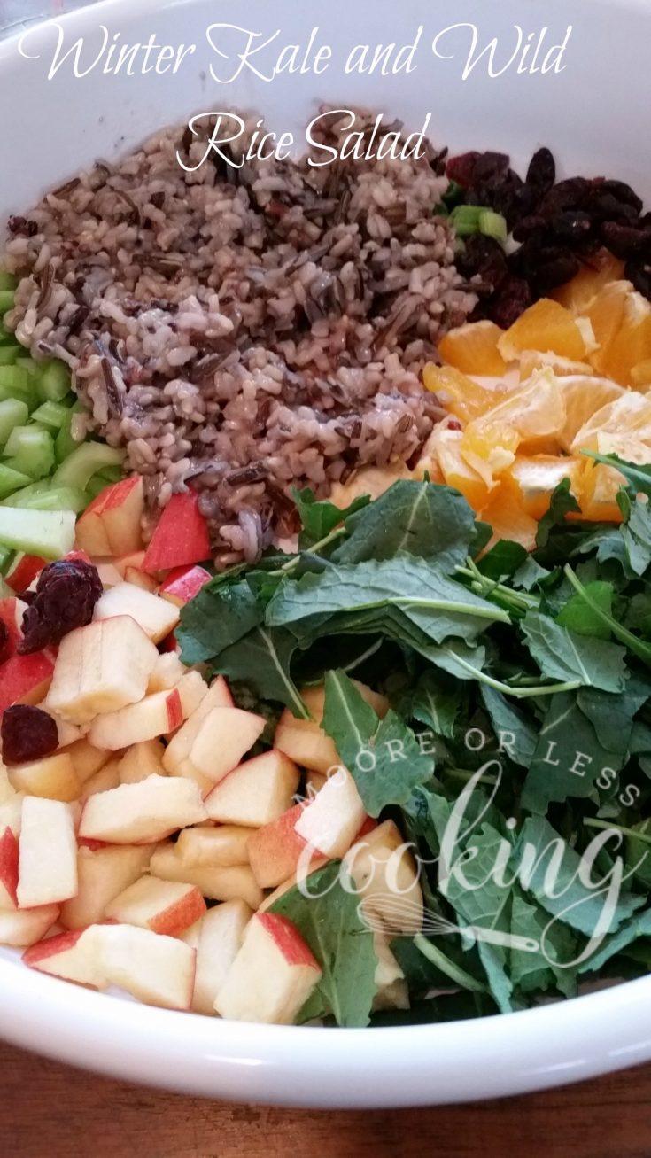 Winter Kale and Wild Rice Salad #SundaySupper