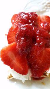 puff pastry strawberries and jam