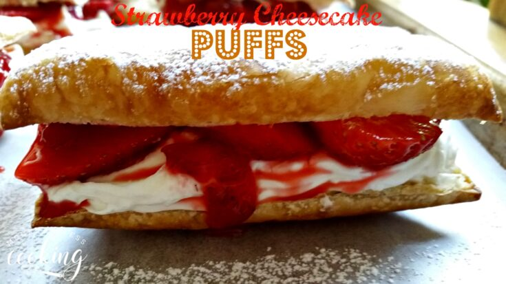 Strawberry Cheesecake Puffs & Video
