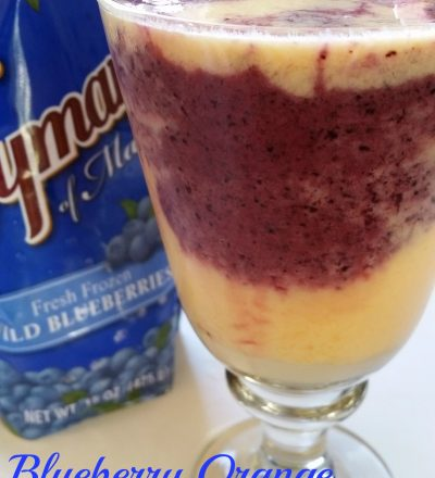Blueberry Orange Layered Smoothie