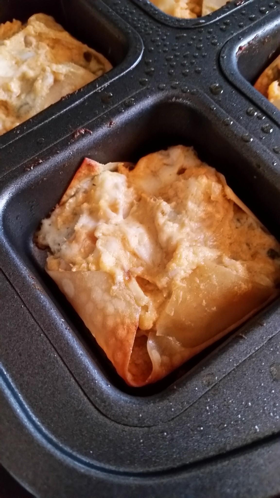 Blue Cheese & Buffalo Chicken Wonton Bites