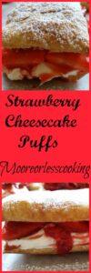 Strawberry Cheesecake Puffs