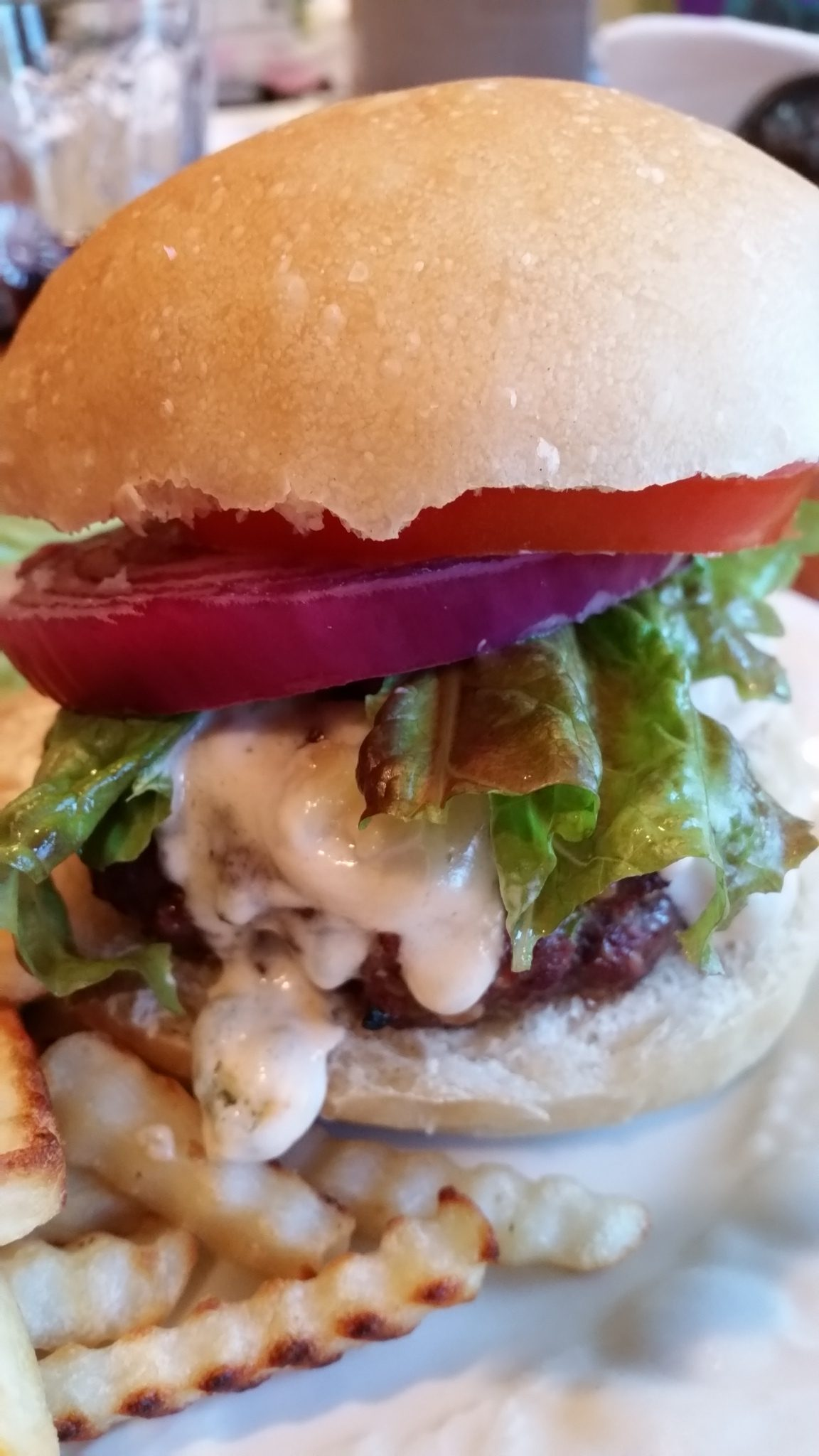 Buffalo Blue Cheese Burger