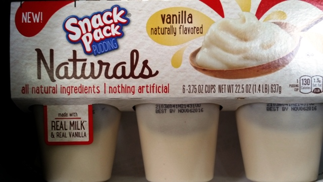 New Naturals Pudding packs