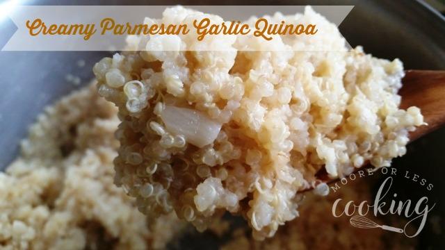 Creamy Parmesan Garlic Quinoa