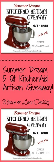 Summer Dream 5 qt KitchenAid Artisan Giveaway!