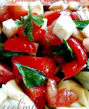 Tortellini Caprese Salad #CookoutWeek