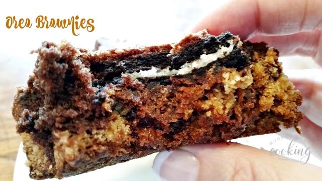 Oreo Brownies #CookoutWeek - Moore or Less Cooking