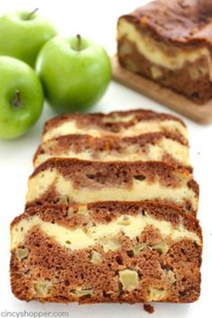 Apple Cinnamon Cream Cheese Bread