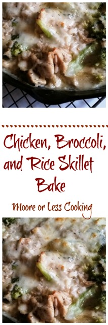 Chicken, Broccoli, and Rice Skillet Bake