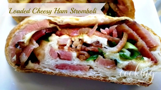 Loaded Cheesy Ham Stromboli