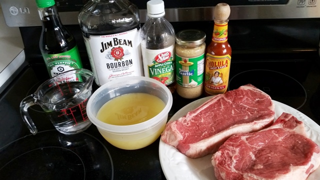 Grilled Steaks with Kentucky Bourbon Marinade