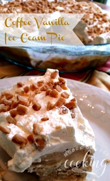 Coffee Vanilla Ice Cream Pie